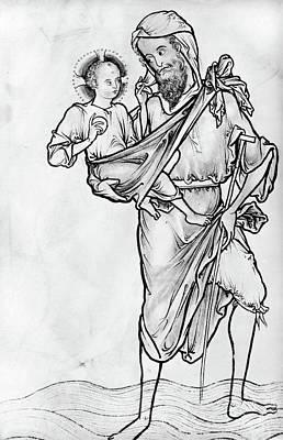 Saint Christopher Poster by Granger