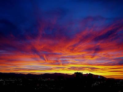 Salt Lake City Sunset Poster