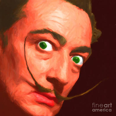 Salvador Dali 20141213 V1 Poster by Wingsdomain Art and Photography