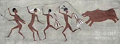San Bushmen Rain Dance, Artwork Poster by Sheila Terry
