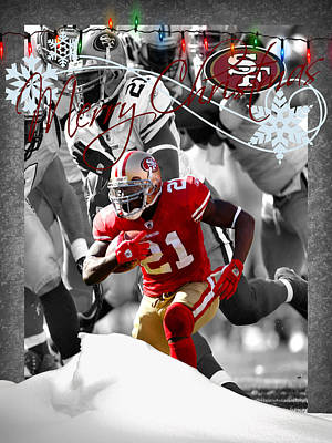San Francisco 49ers Christmas Card Poster by Joe Hamilton
