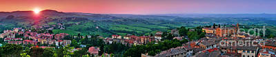 San Gimignano Sunset Panorama Poster by JR Photography