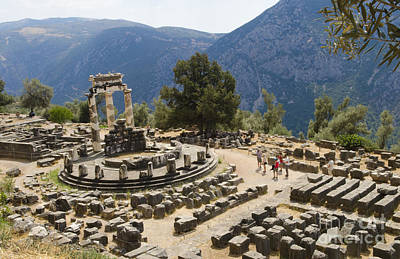 Sanctuary Of Athena At Delphi Poster