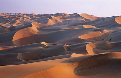 Sand Dunes In The Rub Al-khali, United Poster by Martin Zwick