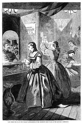 Sanitary Commission, 1864 Poster by Granger