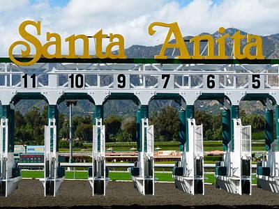 Santa Anita Starting Gate Poster