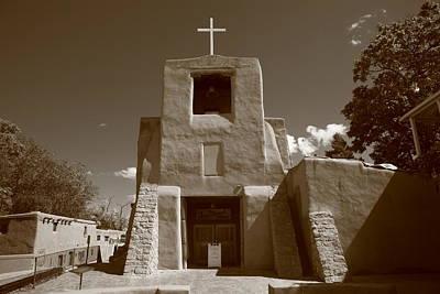 Santa Fe - San Miguel Chapel Poster by Frank Romeo