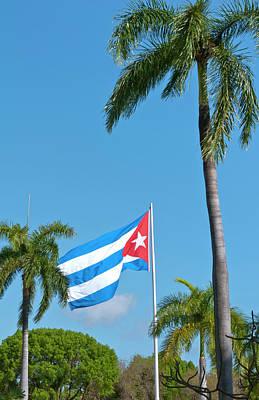 Santiago, Cuba, Cuban Flag Flying Poster by Bill Bachmann