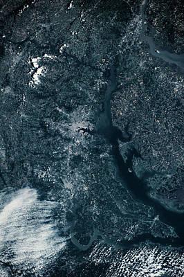 Satellite View Of Baltimore, Maryland Poster