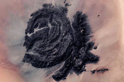 Satellite View Of Desert Area, New Poster