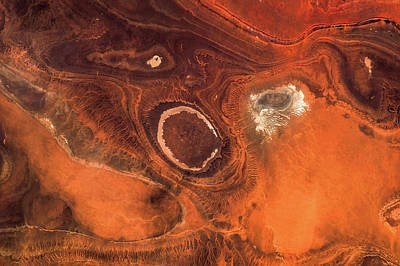Satellite View Of Desert Area Poster