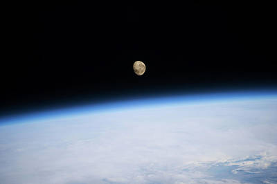 Satellite View Of Moon Over Southern Poster