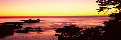 Sea At Sunset, Point Lobos State Poster by Panoramic Images