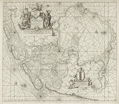 Sea Chart Of The Zuiderzee And The Wadden Sea Poster by Jan Luyken And Johannes Van Keulen (i)