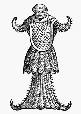 Sea Monster, 1560 Poster by Granger
