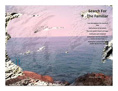 Continued Search For The Familiar Poster by Marco Reynolds