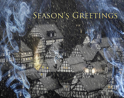 Season's Greetings Poster by Edmund Nagele