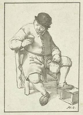 Seated Farmer With Pitcher, Cornelis Ploos Van Amstel Poster by Cornelis Ploos Van Amstel