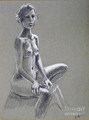 Seated Female Model Poster