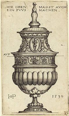 Sebald Beham German, 1500 - 1550, Double Goblet With Oval Poster