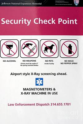 Security Check Point Sign In St Louis Poster