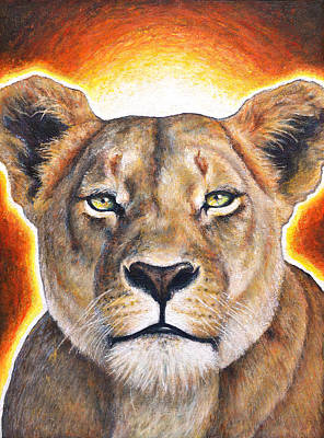 Sekhmet - Lioness Of Courage Poster by Samantha Winstanley