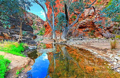 Serpentine Gorge Central Australia Poster