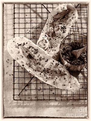 Sesameseed And Sage Flatbread Poster by Iris Richardson