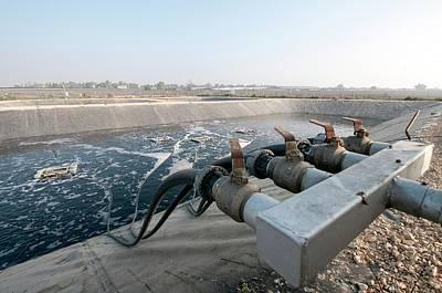 Sewerage Oxidation Pool Poster