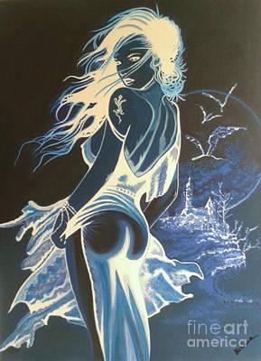 Sexi Girl At Night Poster by Bozena Simeth