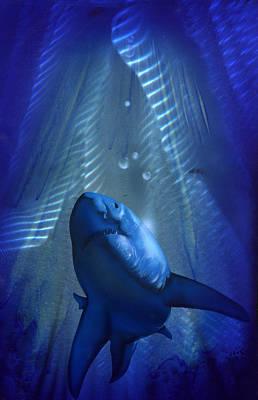 Shark Poster by Luis  Navarro