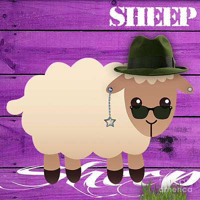Sheep Collection Poster by Marvin Blaine