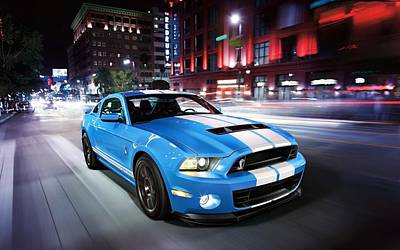Shelby Gt Poster by Art Work