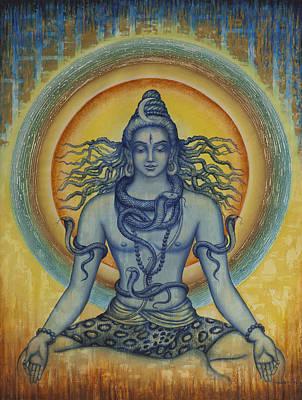Shiva Poster by Vrindavan Das