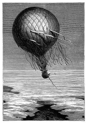 Siege Of Paris Balloon Flight Poster by Science Photo Library