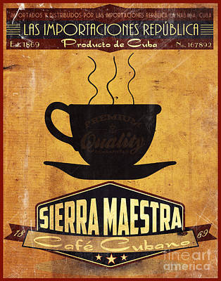 Sierra Maestra Cuban Coffee Poster by Cinema Photography