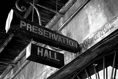 Signboard On A Building, Preservation Poster