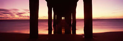 Silhouette Of A Pier, Manhattan Beach Poster