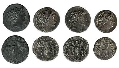 Silver Tetradrachm Coins Poster