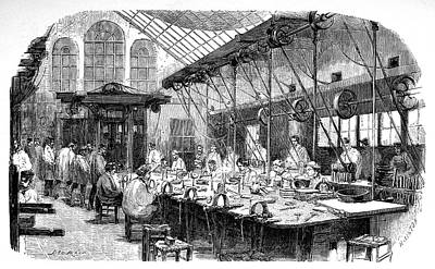 Silverware Factory Poster by Science Photo Library