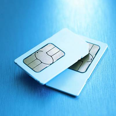 Sim Cards Poster by Science Photo Library