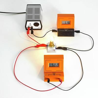 Simple Light Bulb Circuit Poster