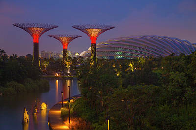 Singapore Garden By The Sea Towers Poster by Jaynes Gallery