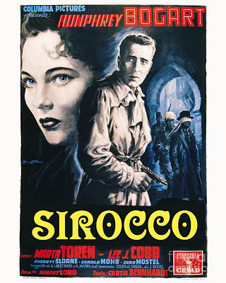 Sirocco Movie Poster Humphrey Bogart Poster by MMG Archive Prints