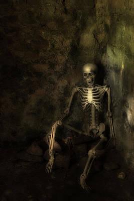Skeleton Poster by Amanda Elwell