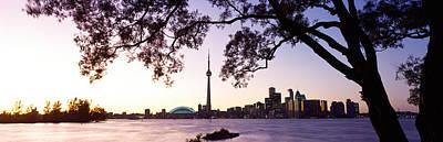 Skyline Cn Tower Skydome Toronto Poster