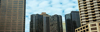 Skyscrapers In A City, Hyatt Regency Poster by Panoramic Images