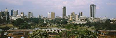 Skyscrapers In A City, Nairobi, Kenya Poster