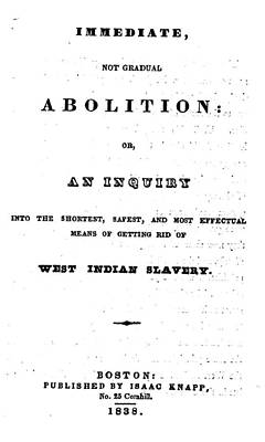 Slavery. An Abolitionist Book. The Poster