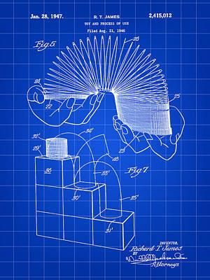 Slinky Patent 1946 - Blue Poster